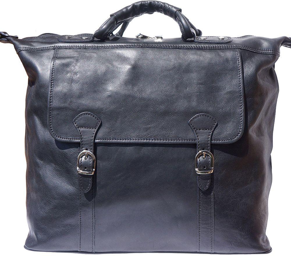 Δερματινος Σακος Ταξιδίου Firenze Leather 7504 Μαύρο
