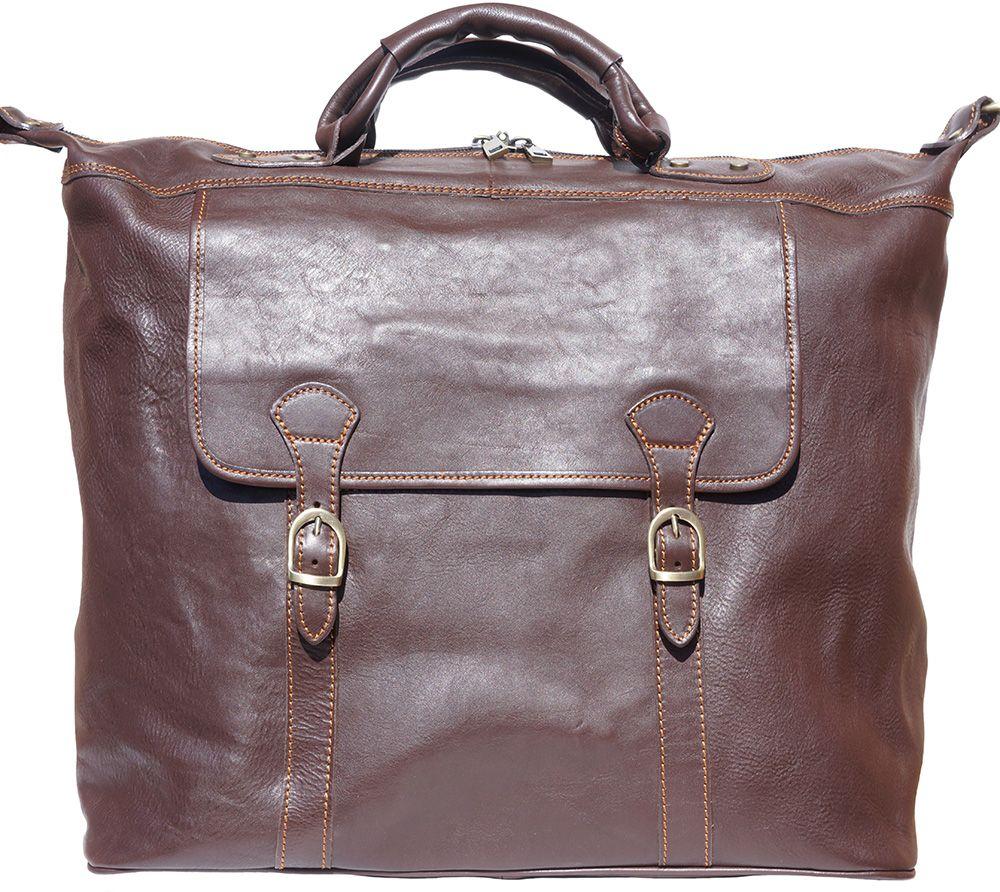 Δερματινος Σακος Ταξιδίου Firenze Leather 7504 Σκουρο Καφε