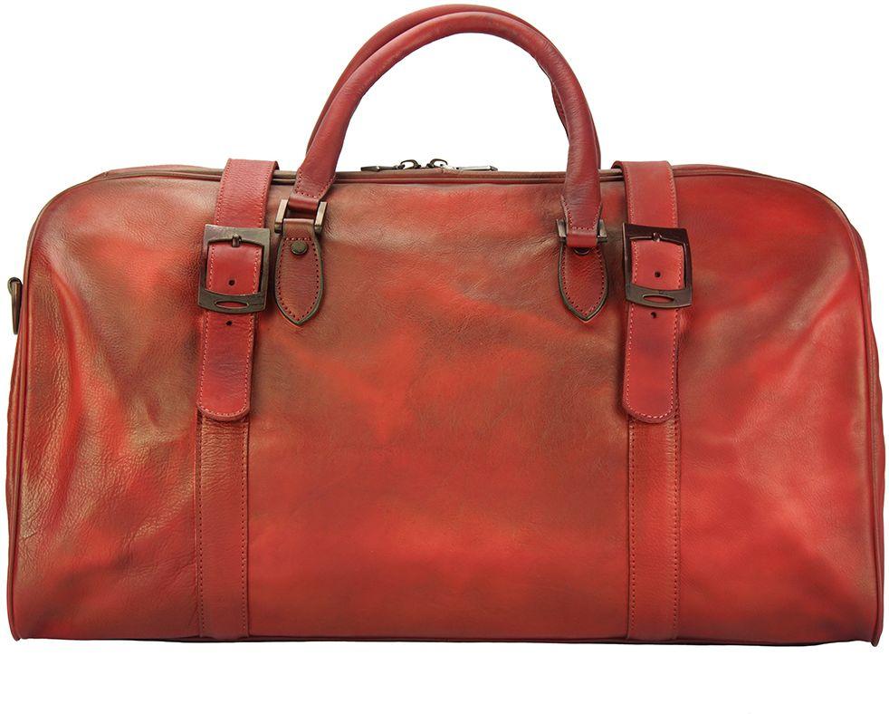 Δερμάτινο Σακ Βουαγιαζ Serafino Firenze Leather 68053 Κόκκινο