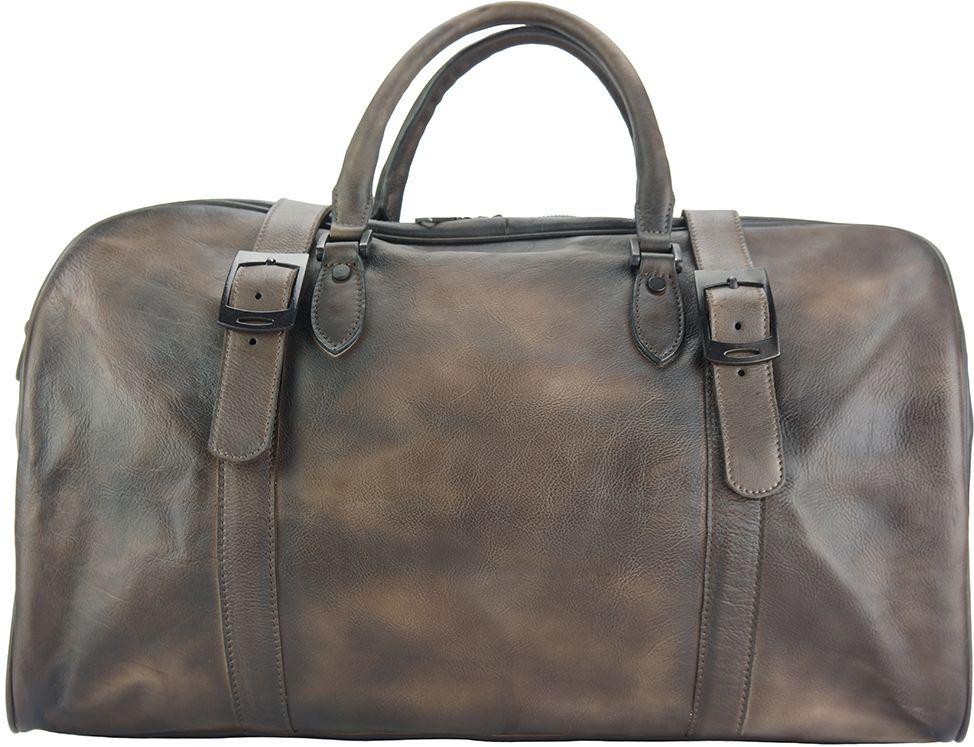 Δερμάτινο Σακ Βουαγιαζ Serafino Firenze Leather 68053 Σκουρο Καφε