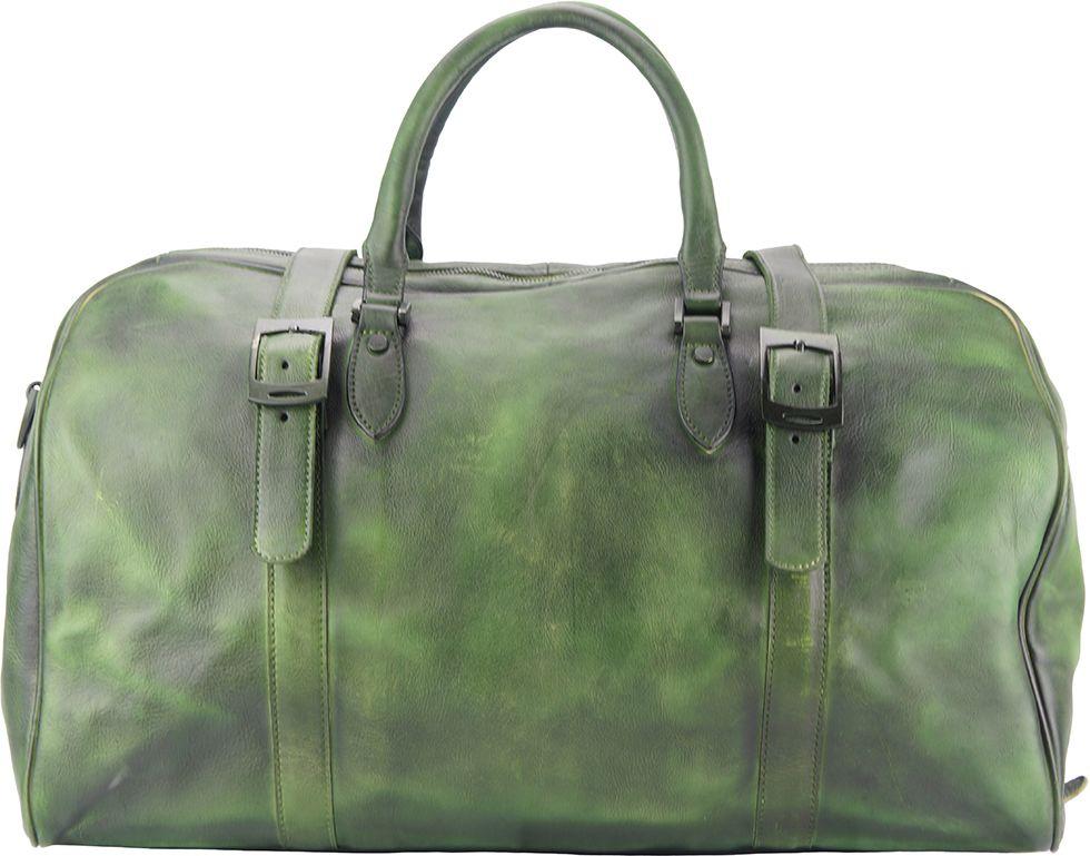 Δερμάτινο Σακ Βουαγιαζ Serafino Firenze Leather 68053 Σκουρο Πρασινο