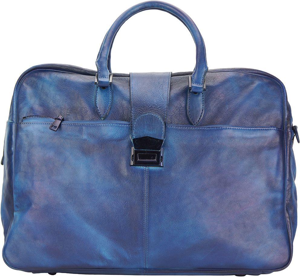 Δερματινος Σακος Ταξιδίου Raimondo Firenze Leather 68052 Σκουρο Μπλε