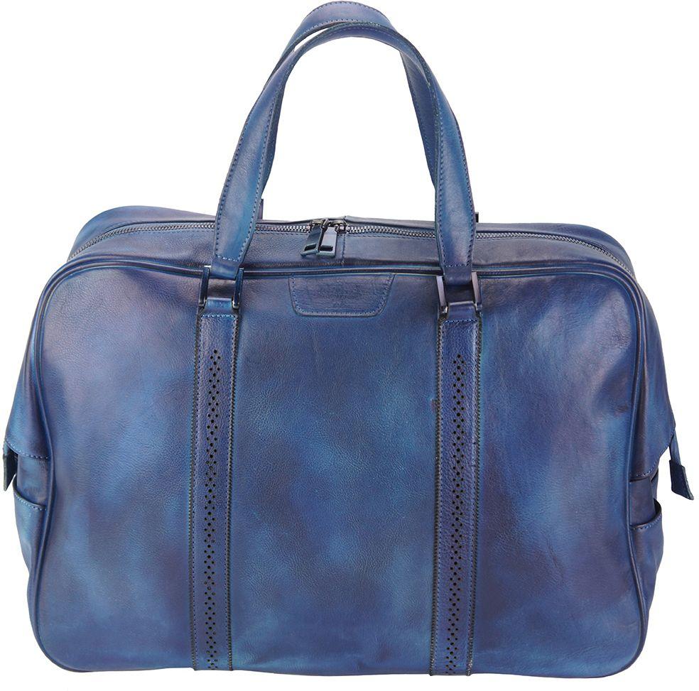 Δερματινος Σακος Ταξιδίου Danilo Firenze Leather 68061 Σκουρο Μπλε