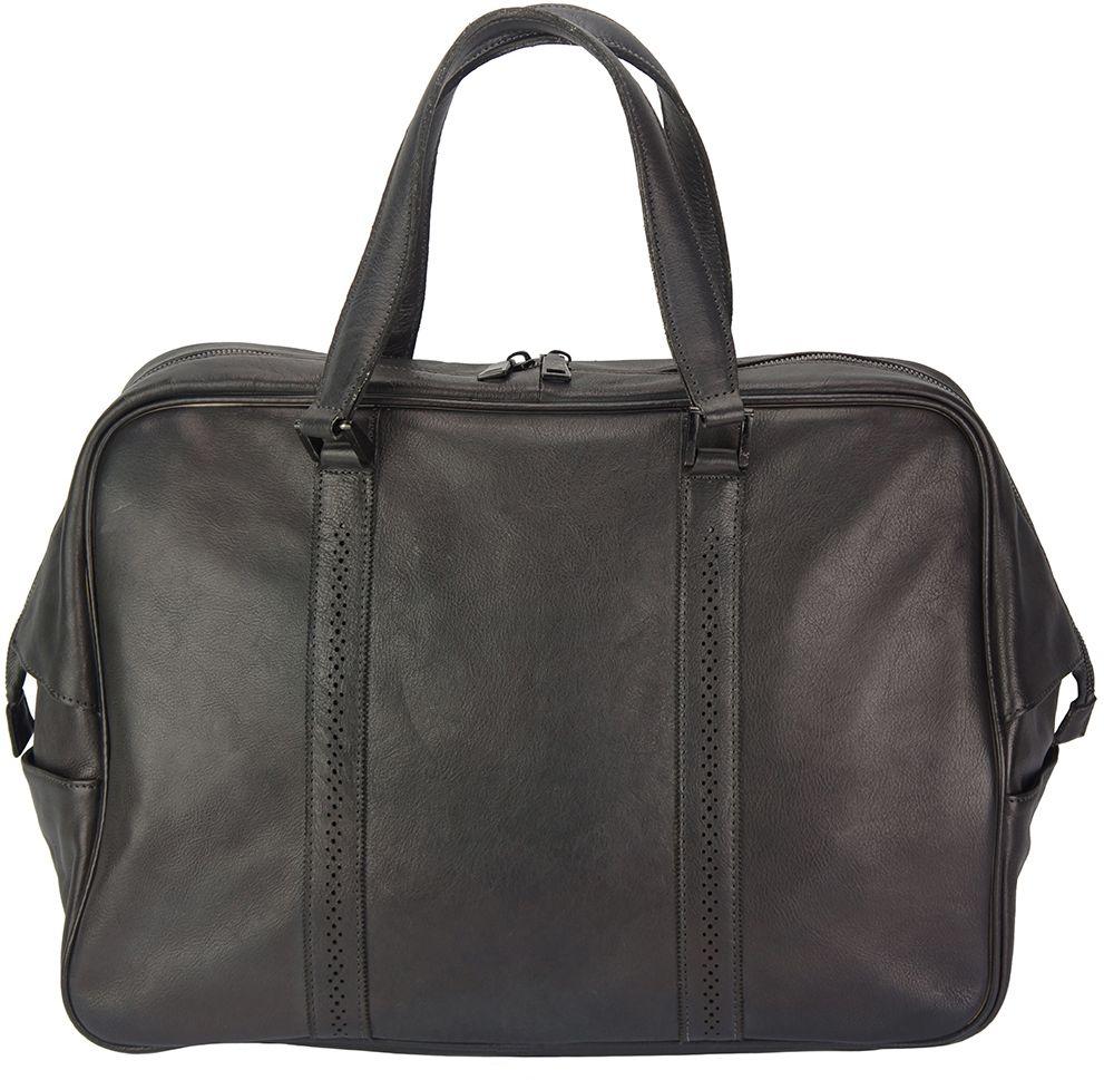 Δερματινος Σακος Ταξιδίου Danilo Firenze Leather 68061 Μαύρο