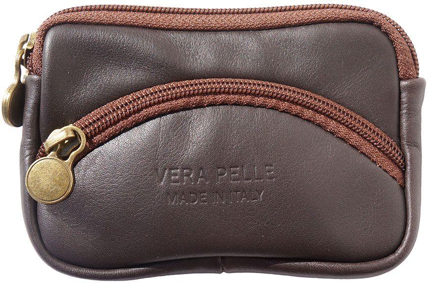 696787c068 Δερματινο Πορτοφολι Κερματων Firenze Leather PM335 Σκουρο Καφε