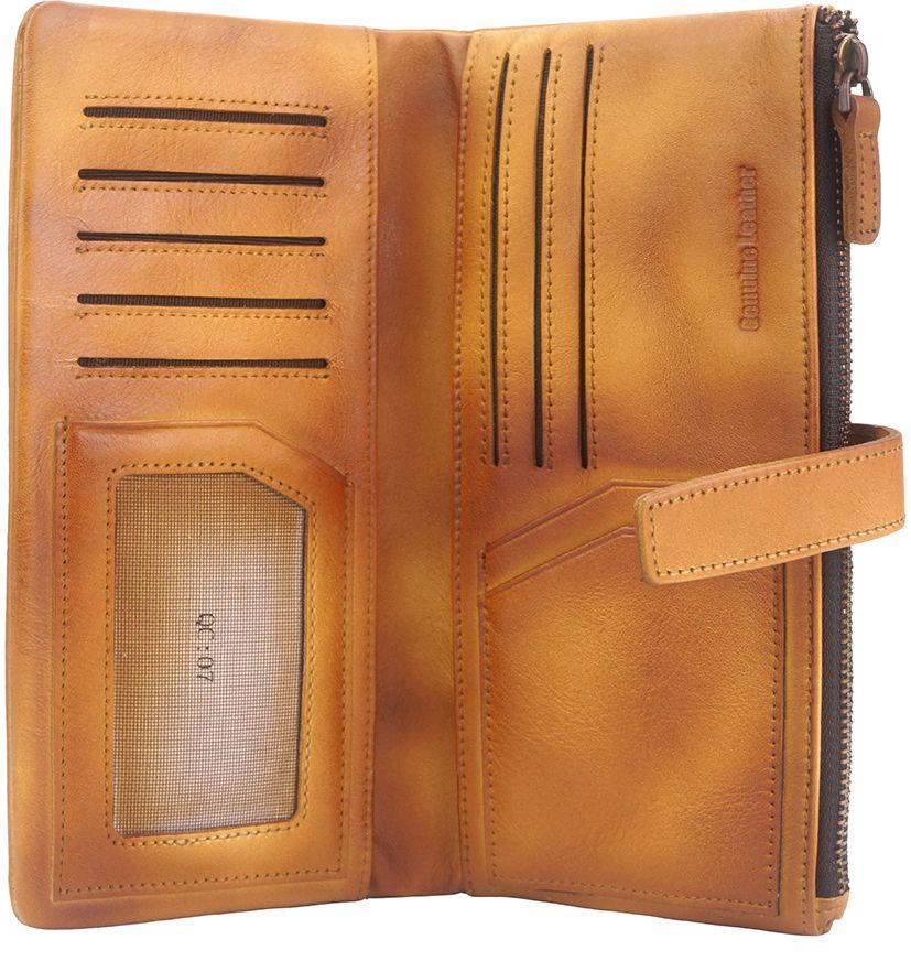 Δερμάτινο Πορτοφόλι Agostino Firenze Leather 51484 Μπεζ γυναίκα   πορτοφόλια