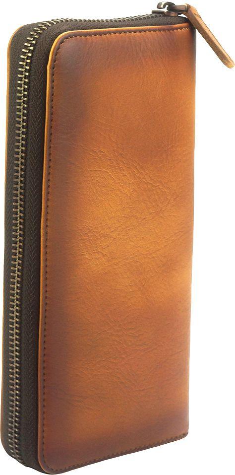 Δερμάτινο Πορτοφόλι Με Φερμουάρ Firenze Leather 53771 Μπεζ γυναίκα   πορτοφόλια
