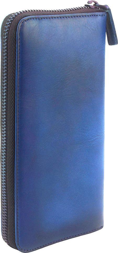 Δερμάτινο Πορτοφόλι Με Φερμουάρ Firenze Leather 53771 Σκουρο Μπλε γυναίκα   πορτοφόλια