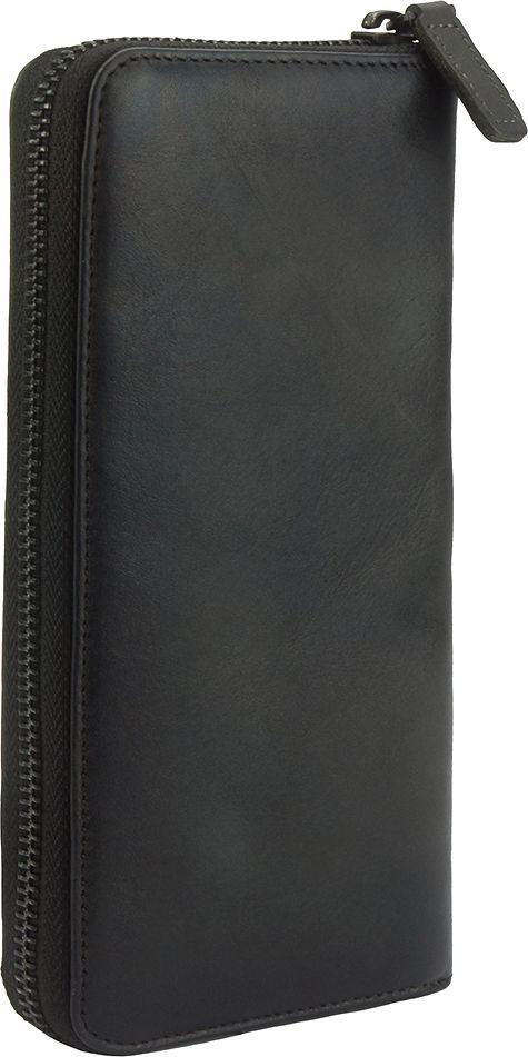 Δερμάτινο Πορτοφόλι Με Φερμουάρ Firenze Leather 53771 Μαύρο γυναίκα   πορτοφόλια
