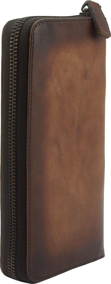 Δερμάτινο Πορτοφόλι Με Φερμουάρ Firenze Leather 53771 Σκουρο Καφε γυναίκα   πορτοφόλια