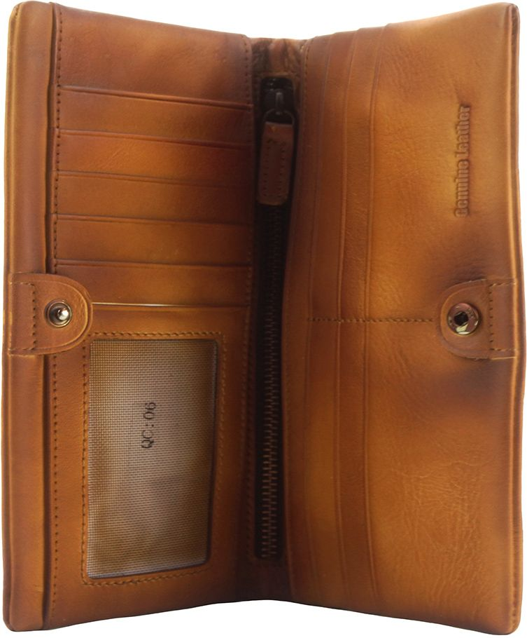 759aee43d7 Γυναικειο Δερματινο Πορτοφολι Bernardo Firenze Leather 53801 Μπεζ