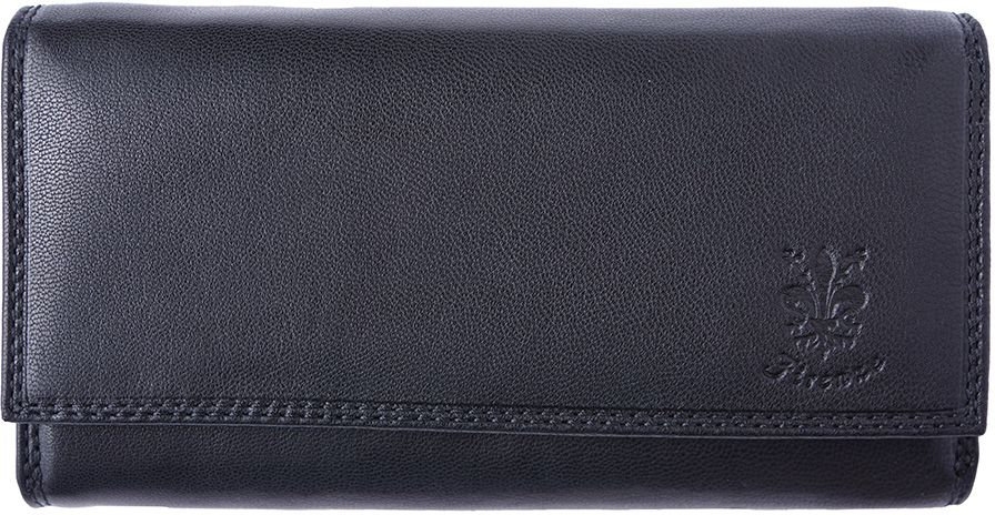 Δερμάτινο Πορτοφόλι Aurora Firenze Leather PF012 Μαύρο γυναίκα   πορτοφόλια