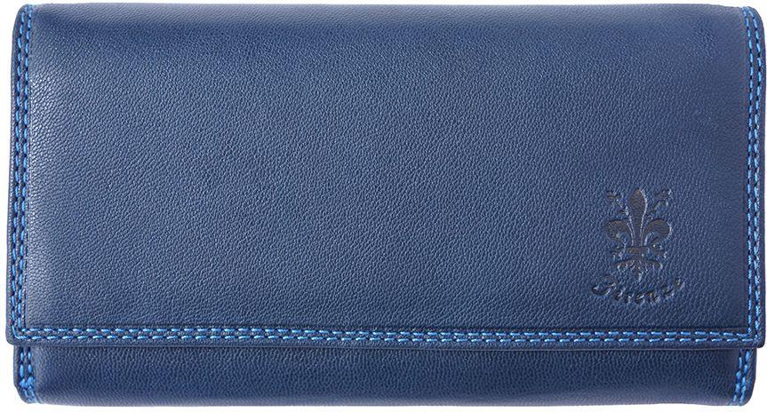 Δερμάτινο Πορτοφόλι Aurora Firenze Leather PF012 Σκουρο Μπλε γυναίκα   πορτοφόλια
