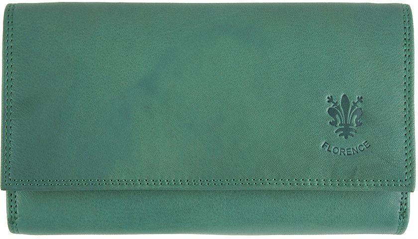 Δερμάτινο Πορτοφόλι Aurora Firenze Leather PF012 Τυρκουαζ γυναίκα   πορτοφόλια