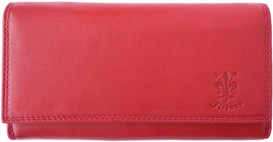 Δερμάτινο Πορτοφόλι Aurora Firenze Leather PF012 Κόκκινο γυναίκα   πορτοφόλια