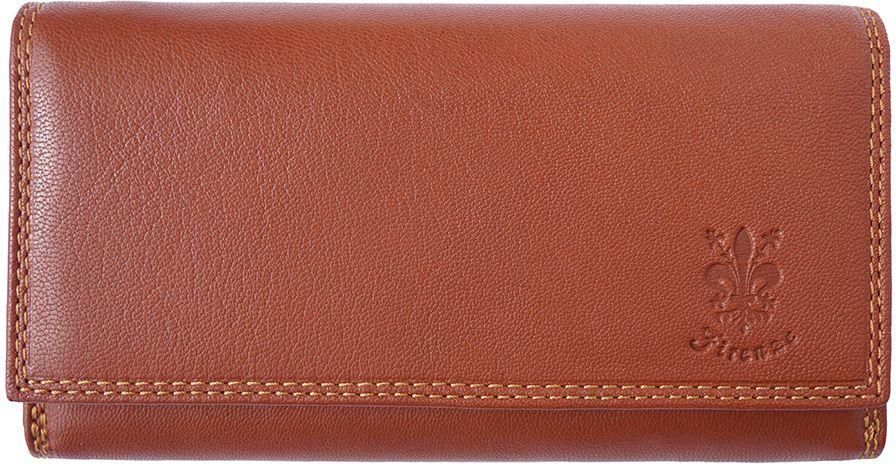Δερμάτινο Πορτοφόλι Aurora Firenze Leather PF012 Μπεζ γυναίκα   πορτοφόλια