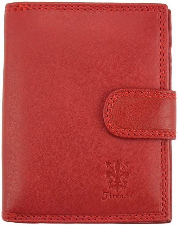 Δερμάτινο Πορτοφόλι Flora Firenze Leather PF073 Κόκκινο γυναίκα   πορτοφόλια