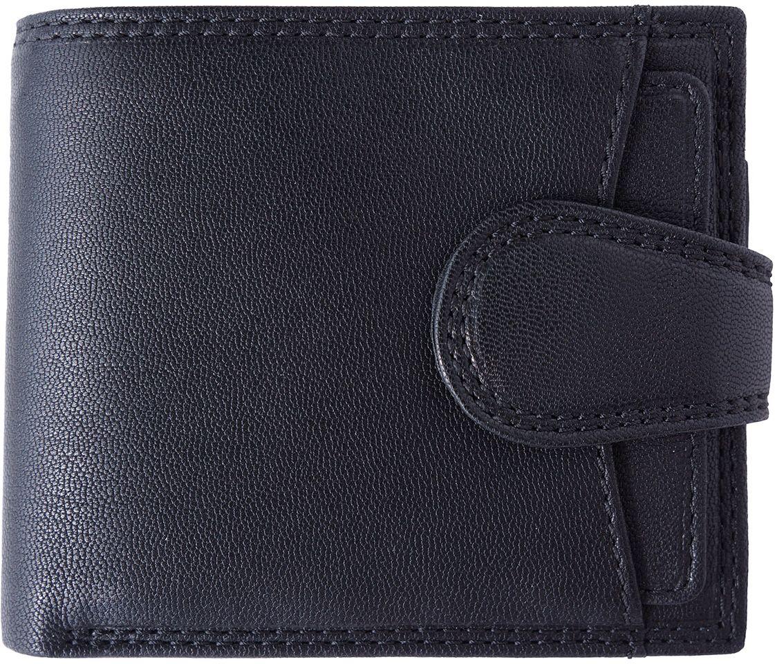 Δερμάτινο Πορτοφόλι Με Θήκη Νομισμάτων Firenze Leather PF085 Μαύρο ανδρας   πορτοφόλια