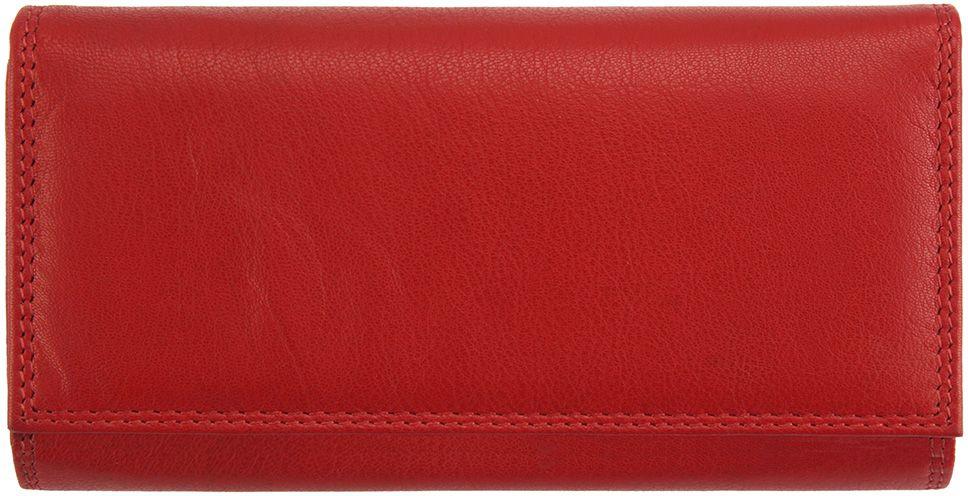 Δερμάτινο Πορτοφόλι Iris Firenze Leather PF055 Κόκκινο γυναίκα   πορτοφόλια