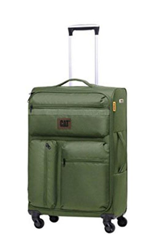 Βαλίτσα Τρόλευ 60 εκ. με 4 Ρόδες Cube-Combat-Visiflash Caterpillar 83401 Πρασινο ειδη ταξιδιου   βαλίτσες   βαλίτσες   βαλίτσες μεσαίου μεγέθους