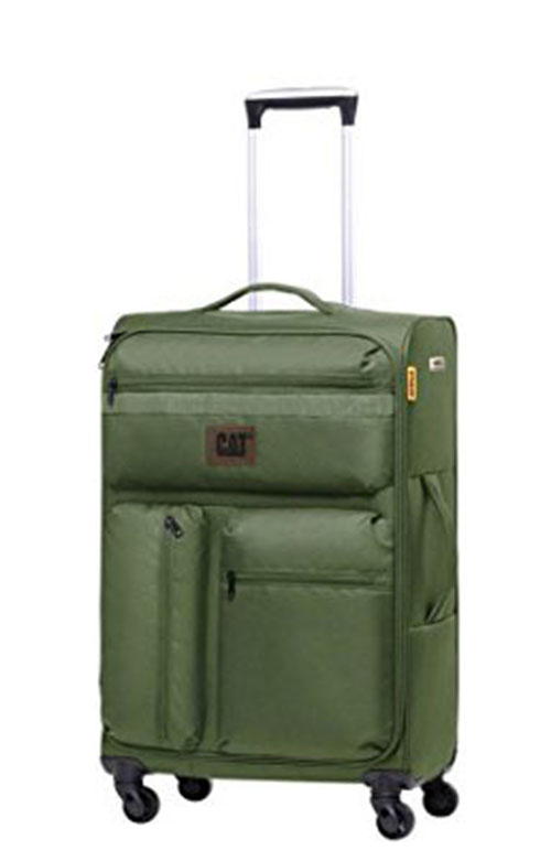 Βαλίτσα Τρόλευ 70 εκ. με 4 Ρόδες Cube-Combat-Visiflash Caterpillar 83401 Πρασινο ειδη ταξιδιου   βαλίτσες   βαλίτσες   βαλίτσες μεγάλες