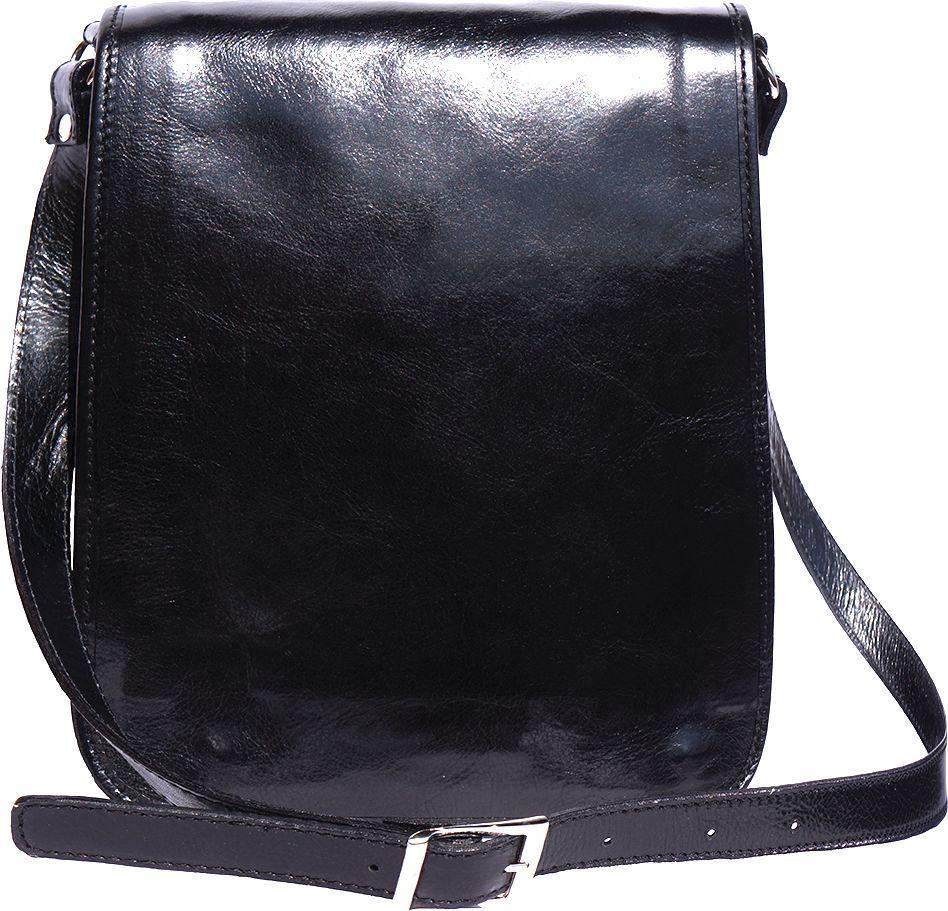 Δερματινη Τσαντα Ωμου Mirko MM Firenze Leather 6516 Μαύρο a83c6acff45