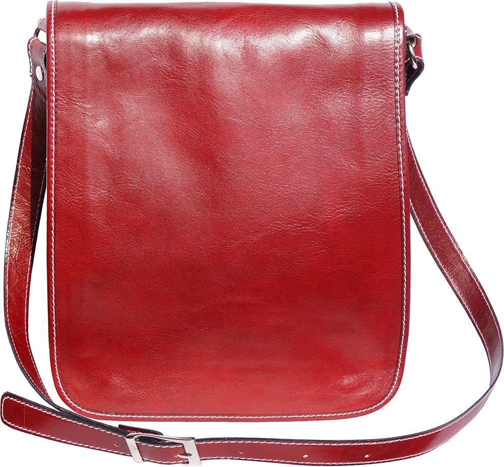 Δερματινη Τσαντα Ωμου Mirko MM Firenze Leather 6516 Κόκκινο 1fc843d1571