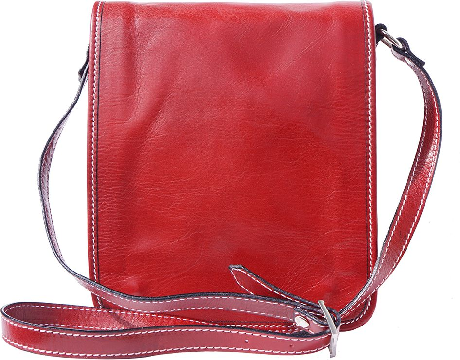 acd80ddde2 Δερματινο Τσαντακι Ωμου Mirko Firenze Leather 6515 Κόκκινο