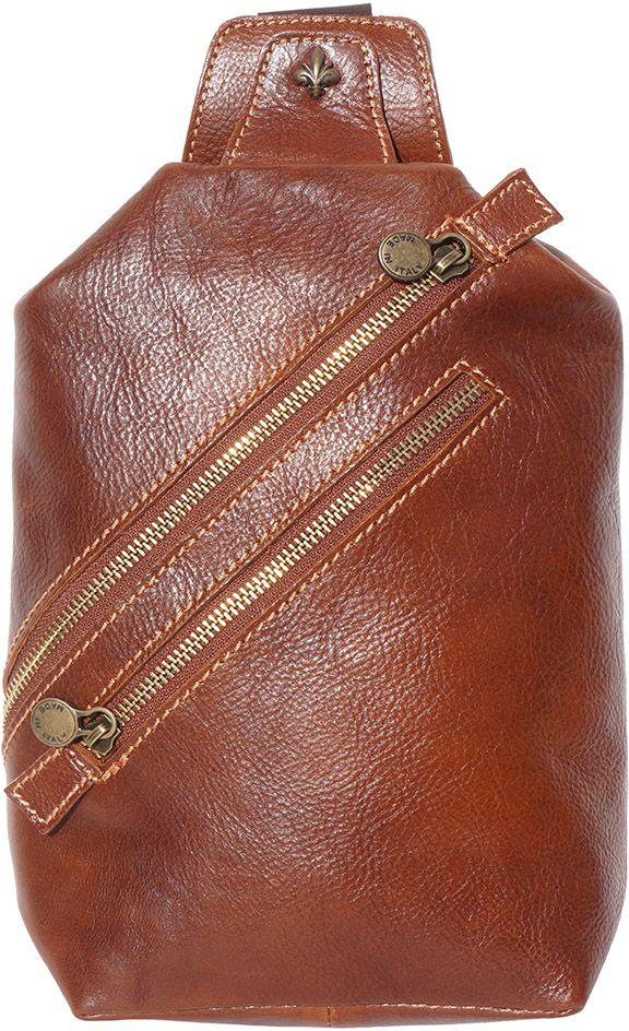 f173a62c95 Δερματινο Τσαντακι Μεσης Firenze Leather 6561 Καφε