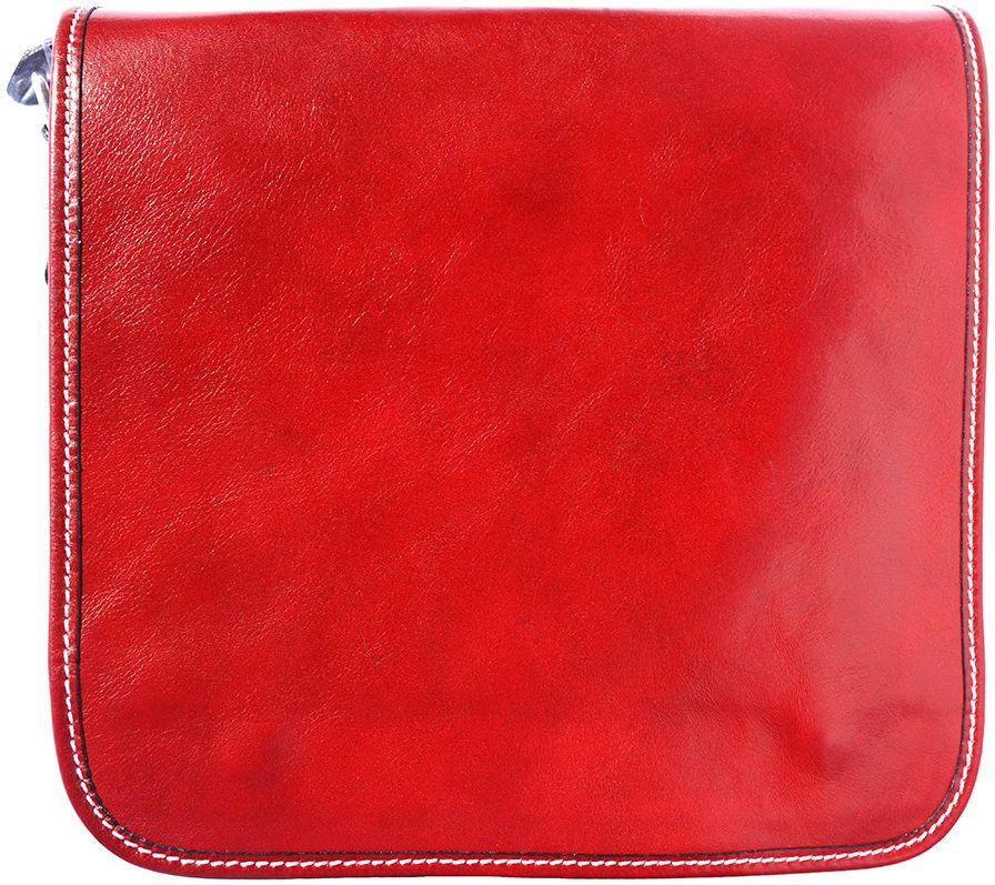 1f738f0875c Δερμάτινη Τσάντα Ωμου Christopher Firenze Leather 6551 Κόκκινο