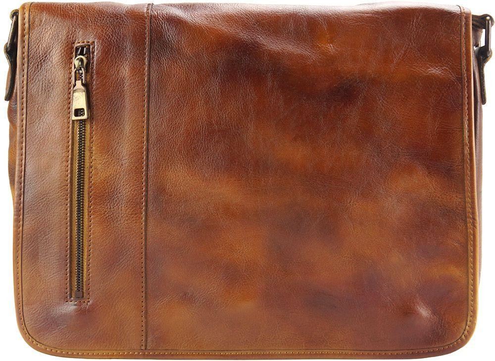 Δερματινη Τσαντα Ταχυδρομου Grigori Firenze Leather 68023 Μπεζ ανδρας   χαρτοφύλακες