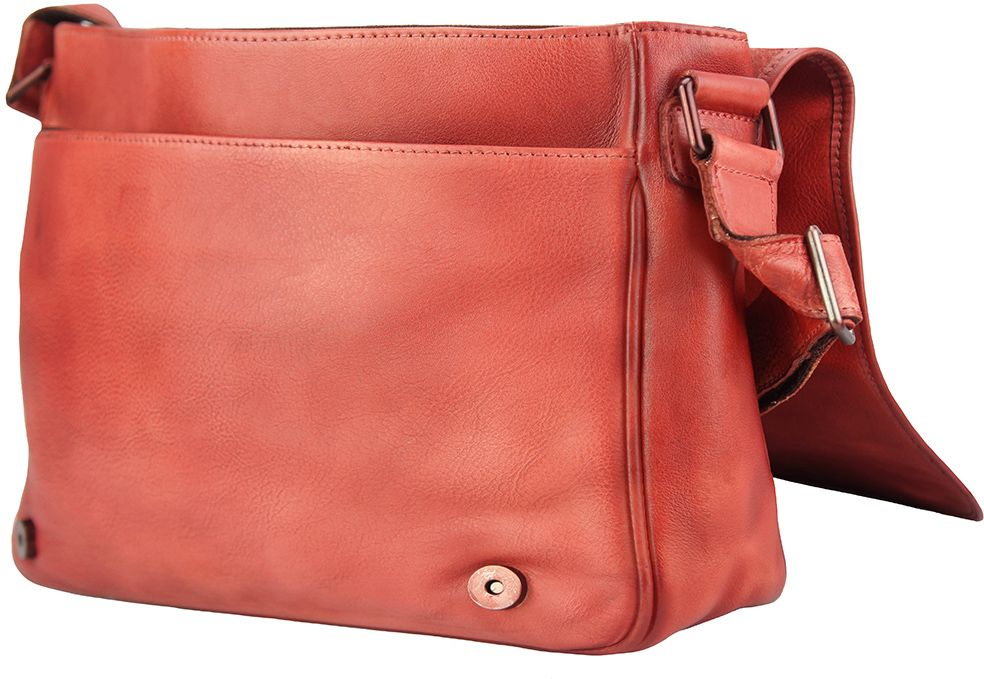 444f1211473 ... Δερματινη Τσαντα Ταχυδρομου Grigori Firenze Leather 68023 Κόκκινο