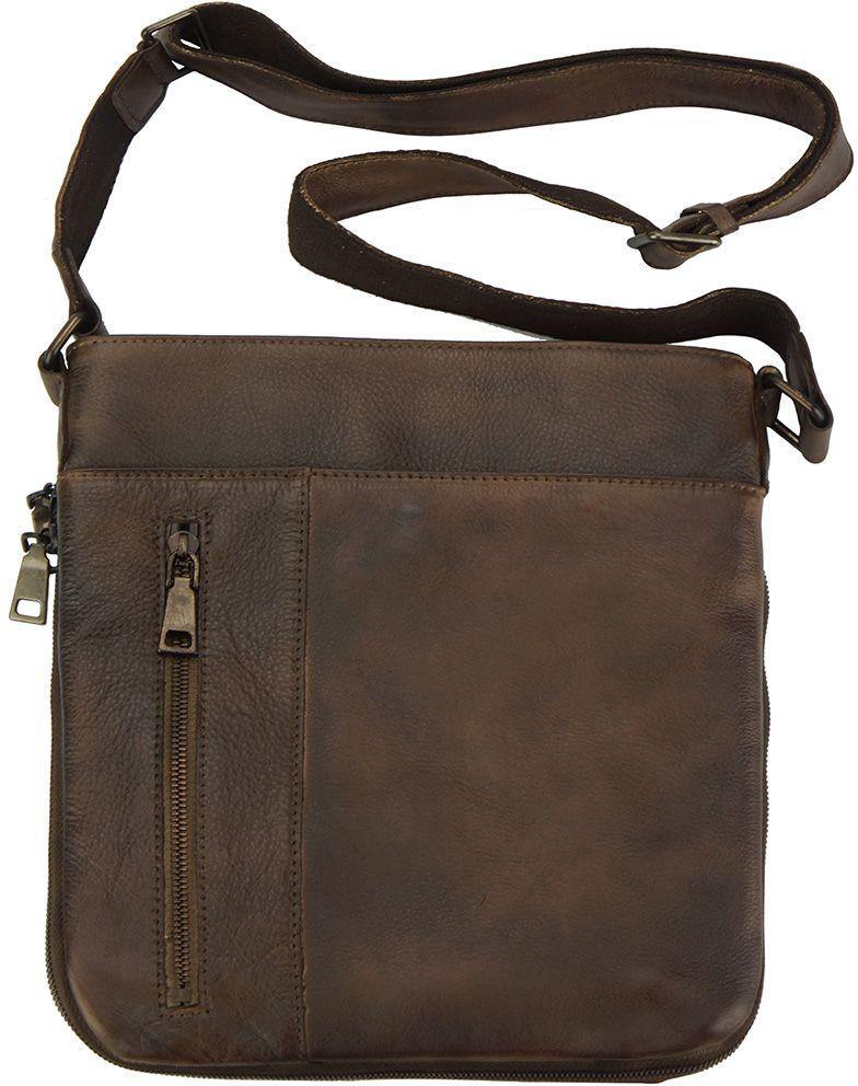 Δερματινο Γυναικειο Τσαντακι Ωμου Oscar Firenze Leather 68012 Σκουρο Καφε e05cfeb3165