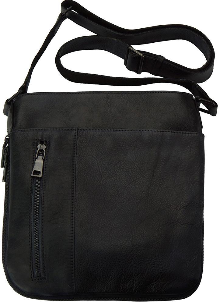 970337d36c Δερματινο Γυναικειο Τσαντακι Ωμου Oscar Firenze Leather 68012 Μαύρο ...
