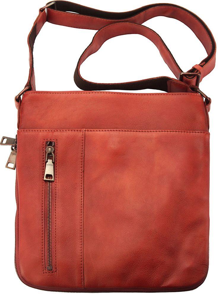 Δερματινο Γυναικειο Τσαντακι Ωμου Oscar Firenze Leather 68012 Κόκκινο af94587d522