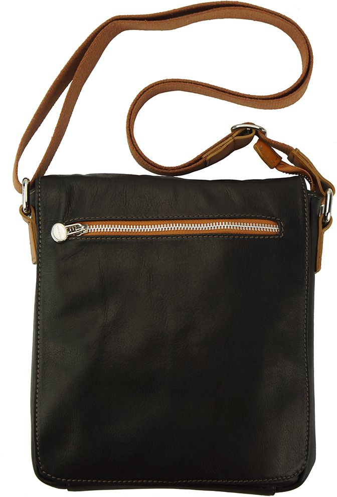 2f5180b205 Δερματινη Τσαντα Ωμου Camillo Firenze Leather B033 Μαύρο Μπεζ