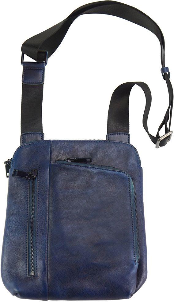 Τσαντακι Ωμου Δερματινο Gianluigi Firenze Leather 68026 Σκουρο Μπλε cd9331f7cec
