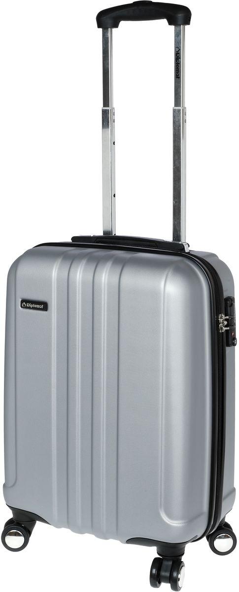 Βαλίτσα Καμπίνας με 4 ρόδες 55cm Diplomat TF1732 Ασημί