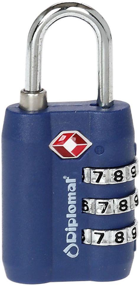 Κλειδαριά με 3ψήφιο Συνδυασμό Diplomat ACLOCK3 Μπλε ειδη ταξιδιου   βαλίτσες   αξεσουαρ ταξιδιου   ασφάλεια αποσκευών