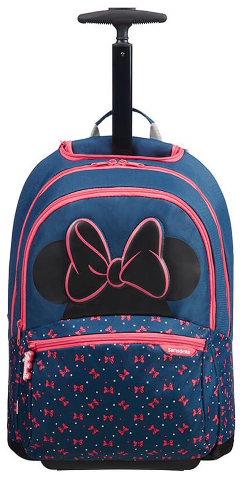 Τσάντα Δημοτικού Trolley Minnie Neon Samsonite 106712-7065 Μπλε/Ροζ παιδί   τσάντες δημοτικού   για κοριτσια