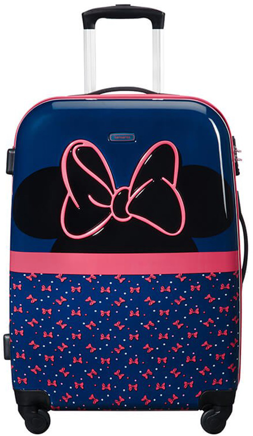 Παιδική Βαλίτσα Μεσαία 65cm με 4 Ρόδες Minnie Neon Samsonite 106717-7065 Μπλε/Ρο ειδη ταξιδιου   βαλίτσες   βαλίτσες   παιδικές βαλίτσες