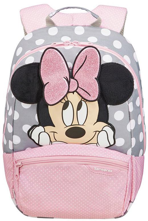 Τσάντα Νηπιαγωγείου S+ Minnie Glitter Samsonite 106708-7064 Ροζ