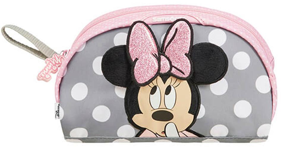 Κασετίνα Οβαλ Minnie Glitter Samsonite 106709-7064 Ροζ παιδί   τσάντες δημοτικού   κασετίνες