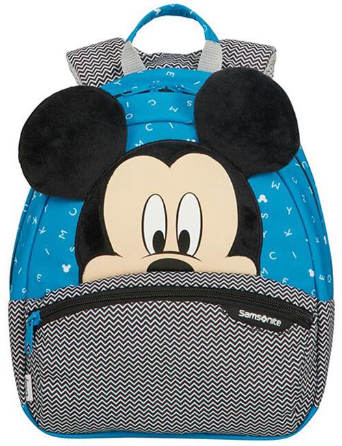 Τσάντα Νηπιαγωγείου S Mickey Letters Samsonite 109481-7224 Μπλε/Γκρι παιδί   τσάντες νηπιαγωγείου   για αγοράκια