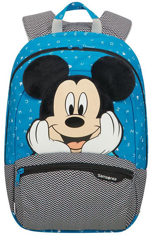 Τσάντα Νηπιαγωγείου S+ Mickey Letters Samsonite 109482-7224 Μπλε/Γκρι παιδί   τσάντες νηπιαγωγείου   για αγοράκια