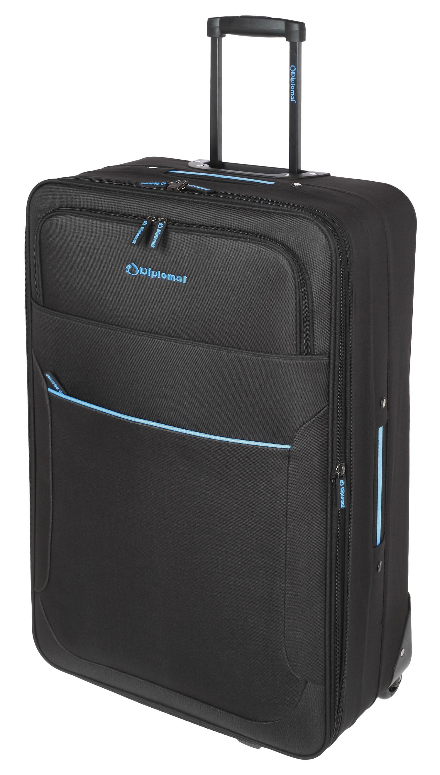 Βαλίτσα τρόλεϊ 71εκ. με Επέκταση Diplomat ZC 3001-71 Μαύρο ειδη ταξιδιου   βαλίτσες   βαλίτσες   βαλίτσες μεγάλες