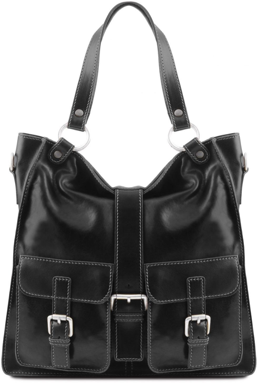 c43bf56f44 Γυναικεία Τσάντα Δερμάτινη Melissa Μαύρο Tuscany Leather
