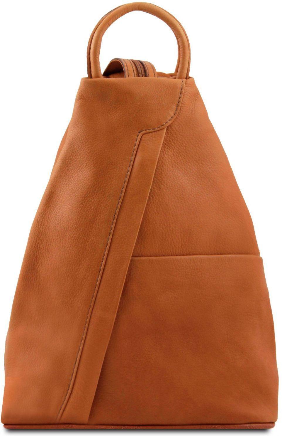 Γυναικείο Τσαντάκι Δερμάτινο Shanghai Κονιάκ Tuscany Leather γυναίκα   τσάντες πλάτης