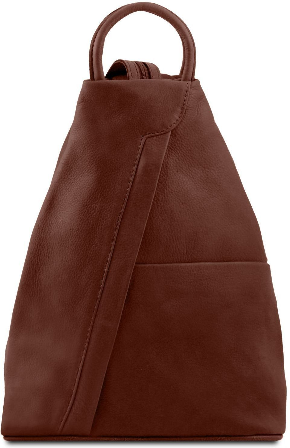 Γυναικείο Τσαντάκι Δερμάτινο Shanghai Καφέ Tuscany Leather