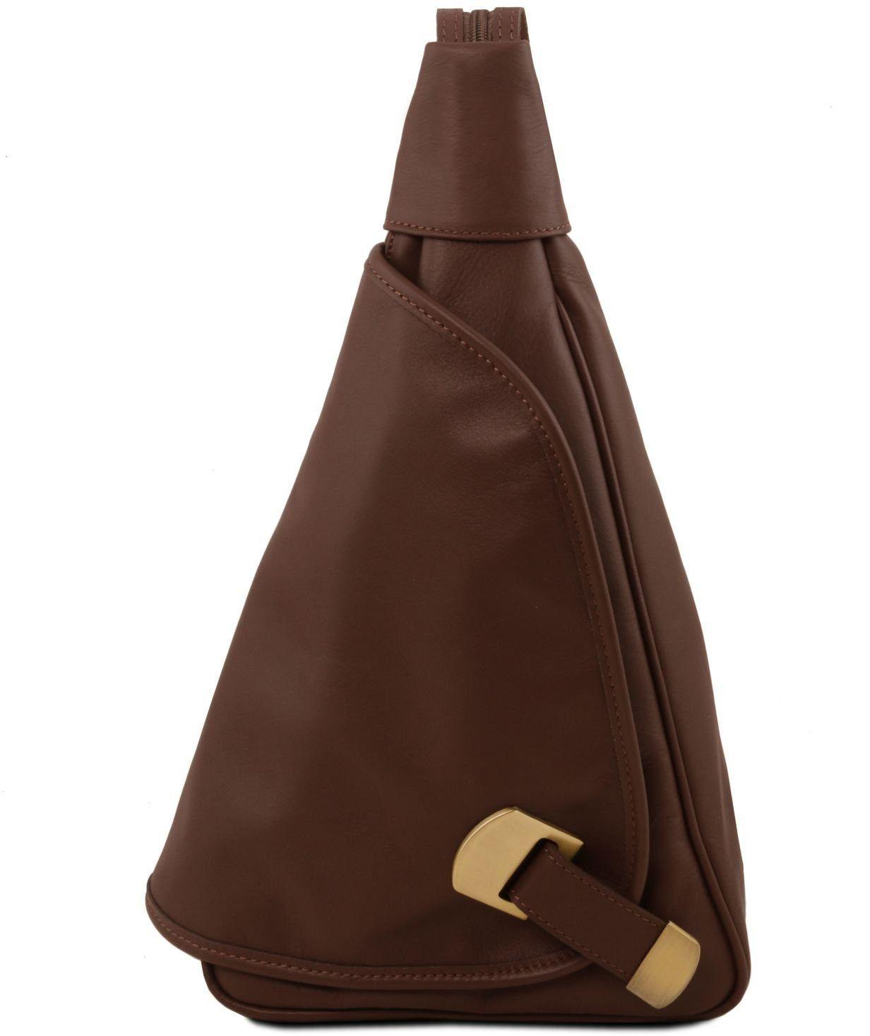 e78a2d768e Γυναικείο Τσαντάκι Δερμάτινο Hanoi Καφέ σκούρο Tuscany Leather